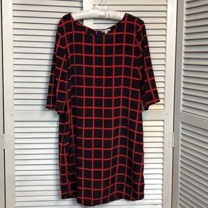 LN GAP Navy & Red Dress